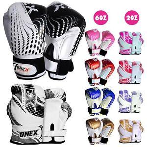 2oz 4oz 6oz Kids Boxing Gloves Junior Mitts Punch Bag Children Gel Pad Gloves