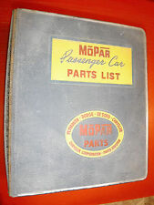1955-56 CHRYSLER PLYMOUTH DODGE DESOTO PASSENGER CAR FACTORY PARTS CATALOG LIST
