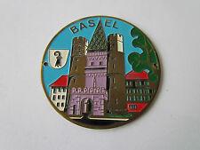 BASEL SCHWEIZ / ORIGINAL EMAILLE AUTOPLAKETTE  PLAKETTE BADGE PLAQUE PLACCA