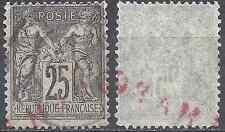 FRANCE SAGE N°89 OBLITÉRATION  CHARGE EN ROUGE (RARE SUR TIMBRE)