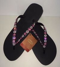 Crystal Flowers flip flops Havaianas made with SWAROVSKI Elements Bling crystal