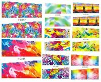 18 sets Nail art water transfer decal sticker wrap C series Rainbow C19