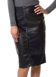 Ladies Leather & Suede Skirt Winter Wear Dark Womens in 4 Colours Thick Warm