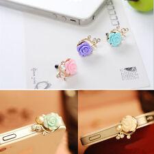 Stopper Cell Phone Rose Crystal Plug Cover Dust Plug Ear Cap Earphone