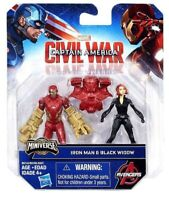 Capitaine America Civil War Iron Man et Black Widow Mini Figurine Hasbro