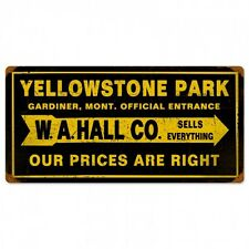 Yellowstone Stone National Park Metal Sign General Store Camping Hiking