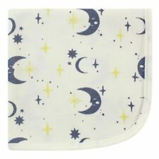 Touched By Nature Boy and Girl Organic Cotton Receiving/Swaddle Blanket, Moon