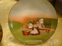 SUN-BONNET BABIES LIMITED EDITION ROYAL BAYREUTH GERMANY 1974 TUESDAY IRONING