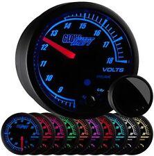 52mm GlowShift Black Elite 10 Color LED Volt Voltage Gauge - GS-ET05