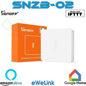 SONOFF SNZB-02 Sensore intelligente temperatura umidità Zigbee WiFi Wireless