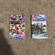 nintendo switch games lot Mario Kart and Minecraft