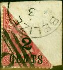 British Honduras 1888 2c on 1d Carmine Bisect on Small Piece SG37a Fine Used