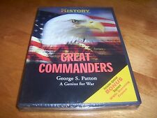 GREAT COMMANDERS GEORGE S. PATTON A Genius for War WWII History Channel DVD NEW