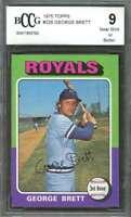 George Brett Rookie Card 1975 Topps #228 Kansas City Royals BGS BCCG 9