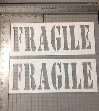 Fragile Street Art Stencil Large 3 pack