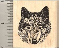 Gray Wolf Rubber Stamp, Timber, Western Wolves H4101 WM