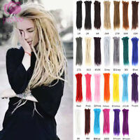 30pcs 20'' Handmade Dreadlocks Synthetic Crochet Braided Dreads Hair Extensions