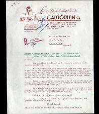 """GUEBWILLER (68) USINE de BOITES Cartonnées /  EMBALLAGE """"CARTORHIN"""" en 1960"""
