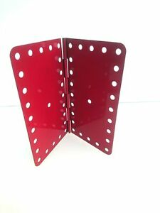 Vintage Meccano Hinged Flat Plate VGC 4 1/2 in. x 2 1/2 in. (198) (14 available)
