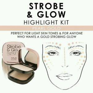 MUA Luxe Strobe Glow Cream Highlighter Kit Multi Formula Compact - Pearl Gold