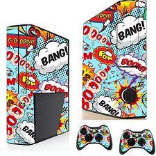 Comics Pop Art sticker/skin Xbox 360e Consola Y Control Remoto pegatinas xsk27
