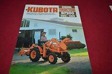 Kubota B7200 Tractor Dealers Brochure DCPA2