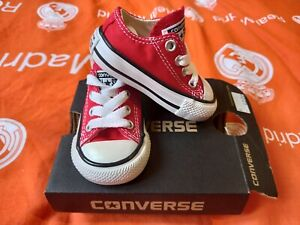 CONVERSE ALL⭐STAR 7J236C INFANTS KIDS C/T A/S OX RED