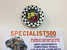 FIAT 500 F.L-R FREGIO SMALTATO ROTONDO ABARTH A SCACCHI