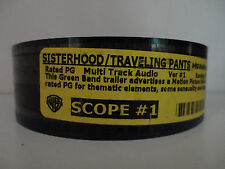 Sisterhood/Traveling Pants  35mm Movie Trailer collectible cell SCOPE 2min 30sec
