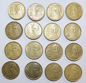MEXICO lot 20 PESOS vintage world O foreign Mexican 16 COINS