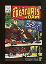 WHERE CREATURES ROAM #1 (7.5) BRUTE THAT WALKS!