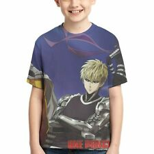 One Punch-Man Anime Summer Casual Shirt Teens Upper Graphic Allover Printed Tops