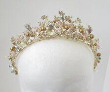 Gold Silver Blush Pink Diamante Tiara Hair Crown Headband Bridal Bridesmaid 5384