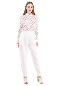 RRP €210 PME PESERICO Linen Trousers Size 44 / M Pleated Cuffed Made in Italy