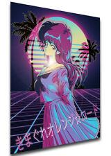 Poster Vaporwave - Kimagure Orange Road - Madoka Ayukawa