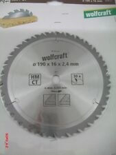Kreissägeblatt HM Ø190x16x2,4 mm Wolfcraft Sägeblatt 30 Zähne