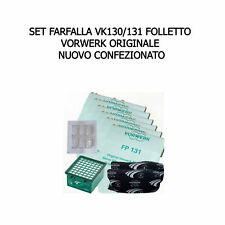 1 anno RICAMBIO ORIGINALE Set farfalla per VK135-136 folletto  kit manut