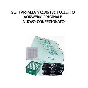 SET FARFALLA VK 130/131 VORWERK FOLLETTO ORIGINALE NUOVO REVIEL