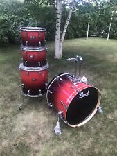 New Pearl Vision Birch 4-piece Set In Red Fade Laquer.