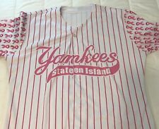 Wilson Game Used Breast Cancer Awareness Staten Island Yankees Jersey Size 44