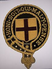 Medieval Knight Cape Robe Mantle Royal Arms Shield Order Garter COA SCA Crest