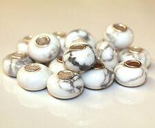 Howlith Magnesit 925 Sterling Silber Bead Beads Donut Edelsteine Charme