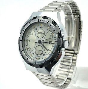 Men Russia Mechanical Watch SLAVA Date Bracelet Classic Chrome Original Serviced