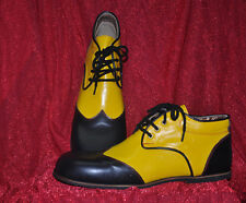ZYKO Professional Real Leather Clown Shoes Chaplin model  Black/yellow (ZH027)