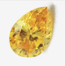2.74Ct 7x9mm Golden Yellow Sapphire Pear Faceted Cut AAAAA VVS Loose Gemstone
