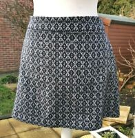 Size 20 Navy Wool Blend, Short Mini Skirt, Nutmeg
