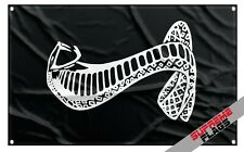 Cobra Flag Banner (3x5 ft) Ford Mustang SVT Shelby Motorsport Car Racing Black