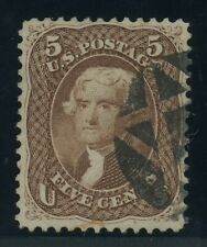 US Stamp #76 5c Jefferson - PSE Cert - USED - SMQ - $155.00