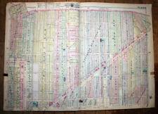 "Detroit MI 1915 Plat Map Baist's 34"" x 24½"" Gratiot Harper Canton McClellan"