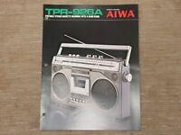 AIWA TPR-926A Portable Cassette Tape Recorder Original Catalogue